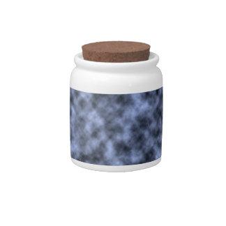Blue grey white black mottled pattern design candy dish