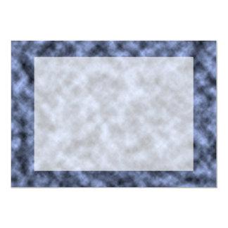 Blue grey white black mottled pattern design card