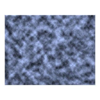 "Blue grey white black mottled pattern design 8.5"" x 11"" flyer"