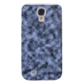 Blue grey white black mottled pattern design galaxy s4 case