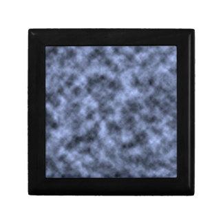 Blue grey white black mottled pattern design gift box