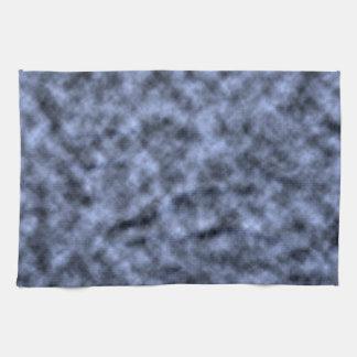 Blue grey white black mottled pattern design hand towels