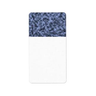Blue grey white black mottled pattern design personalized address label