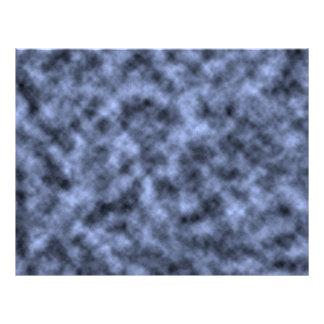 Blue grey white black mottled pattern design customized letterhead