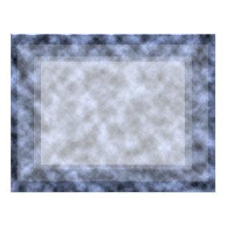 Blue grey white black mottled pattern design letterhead
