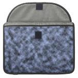 Blue grey white black mottled pattern design sleeves for MacBooks