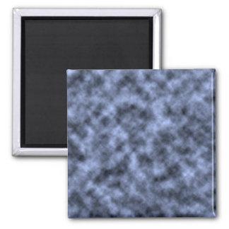 Blue grey white black mottled pattern design fridge magnet
