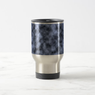 Blue grey white black mottled pattern design mug