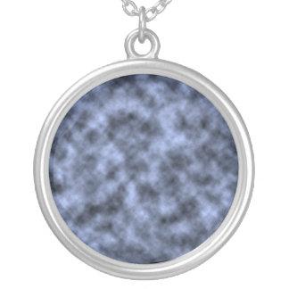 Blue grey white black mottled pattern design pendants