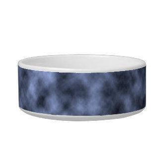 Blue grey white black mottled pattern design cat food bowls