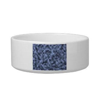 Blue grey white black mottled pattern design cat food bowl