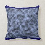 Blue grey white black mottled pattern design pillows