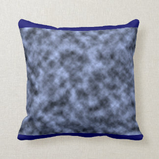 Blue grey white black mottled pattern design pillow