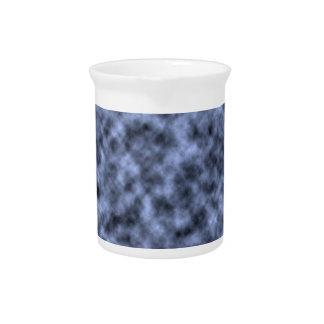 Blue grey white black mottled pattern design beverage pitcher
