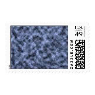 Blue grey white black mottled pattern design postage