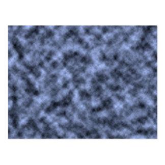Blue grey white black mottled pattern design post cards