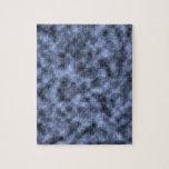 Blue grey white black mottled pattern design jigsaw puzzles