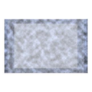 Blue grey white black mottled pattern design customized stationery
