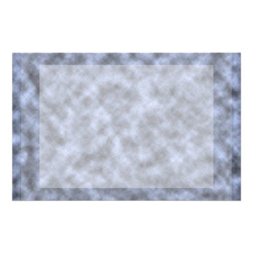 Blue grey white black mottled pattern design stationery