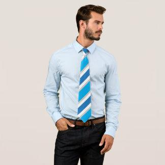 Blue Grey White Striped Conservative Power Tie