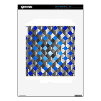Blue grid background decals for the iPad 2