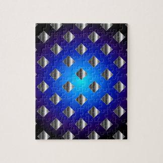 Blue grid background jigsaw puzzle