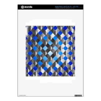 Blue grid background skin for iPad 3