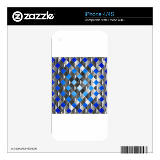 Blue grid background skin for the iPhone 4S