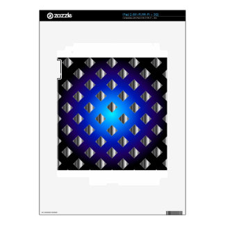 Blue grid background skins for the iPad 2
