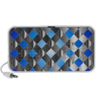 Blue grid background speaker