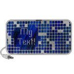 Blue Grid Doodle iPod Speaker