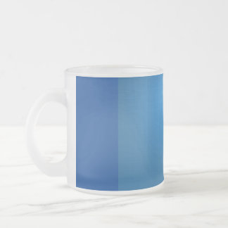 Blue Grid Frosted Glass Coffee Mug