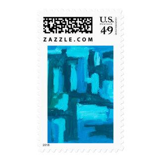 Blue Grid Postage