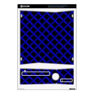 Blue grid Xbox360S Skins For Xbox 360 S