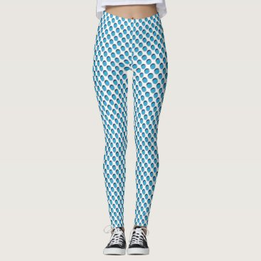 Blue Grillage Leggings