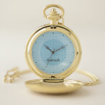 Blue Grillage Pocket Watch