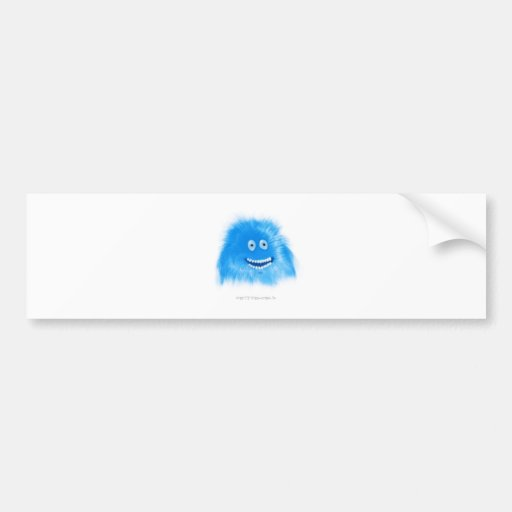 Blue Grinning Critter Bumper Stickers