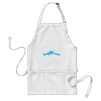 Blue Groovy Happy Humanist Adult Apron