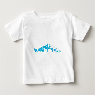 Blue Groovy Happy Humanist Baby T-Shirt