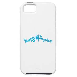 Blue Groovy Happy Humanist iPhone 5 Case