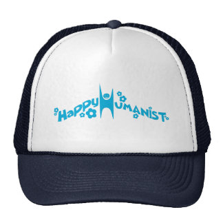 Blue Groovy Happy Humanist Trucker Hat