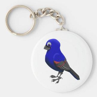 Blue Grosbeak Keychain
