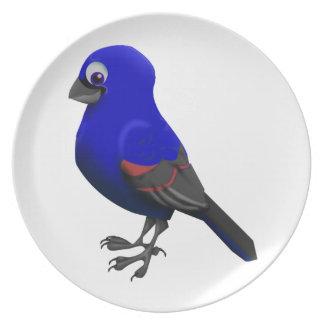 Blue Grosbeak Melamine Plate