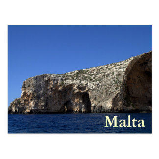 Blue Grotto, Malta Postcard