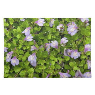 'Blue Groundcover' Cloth Placemat