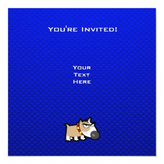 Blue Grumpy Dog Card