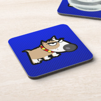 Blue Grumpy Dog Coaster