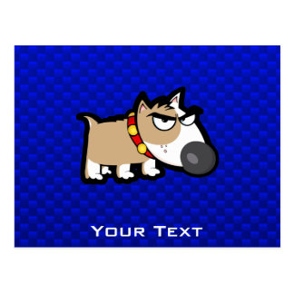 Blue Grumpy Dog Postcard