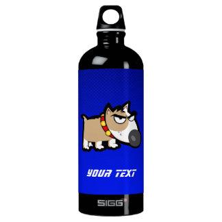 Blue Grumpy Dog Water Bottle