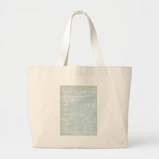 Blue Grunge Art Page Large Tote Bag